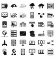 database icons set simple style vector image vector image