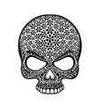 day dead skull skull sugar flower skull vector image