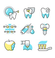 Dental Care Icons vector image