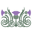 design leaves and flowers thistle in vector image vector image