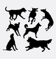 Dog pet animal silhouette 19 vector image vector image