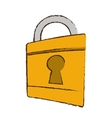 drawing padlock lock security money bank vector image