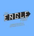 eagle font alphabet vector image