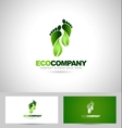 Eco Green Steps Logo vector image