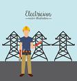 electrician concept vector image