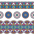 ethnic mexical peru tribal seamless border pattern vector image vector image