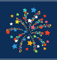 Firework shapes colorful festive icon