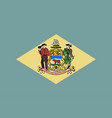 flag of delaware vector image vector image