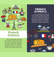 french culture and symbols travel agency brochures vector image vector image