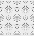 geometric pattern with triangle and ethnic floral vector image