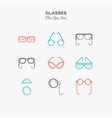 glasses sunglasses lenses monocle and more vector image