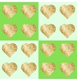 Glittering hearts in seamless pattern vector image
