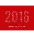 Greeting Happy New Year card vector image