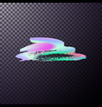 holographic brush paint vector image