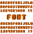 Isometric alphabet font 3D letters for web mobile