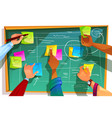 kanban board for agile scrum vector image vector image