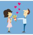 lovegiveflower vector image vector image