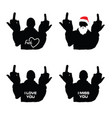 man silhouette in various poses set design vector image vector image