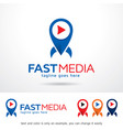 media logo template vector image