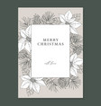 merry christmas happy new year decorative vintage vector image