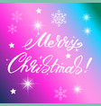 merry christmas text design lettering vector image vector image