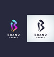 modern linear logo and sign the letter b vector image