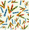 Multicolored crayons pattern background vector image vector image