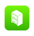 office chest of drawers icon green vector image vector image