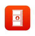 oil barrel icon digital red vector image vector image