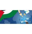 palestine economy fiscal money trade concept vector image vector image