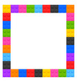 plastic kids blocks frame with text space vector image