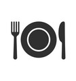 plate spoon fork cutlery icon vector image
