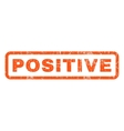 Positive Rubber Stamp vector image vector image