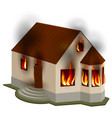 property insurance private house is on fire vector image vector image