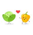romantic veggie scene vector image