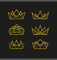 royal crowns deluxe vector image vector image