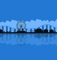 scenery amusement park background silhouette vector image vector image