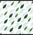 seamless pattern of lily of the valley sprigs with vector image vector image