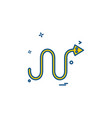 snake icon design vector image vector image