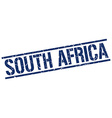 South Africa blue square stamp vector image vector image