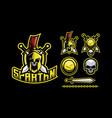 spartan mascot logo design vector image