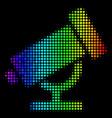 spectrum pixel telescope icon vector image