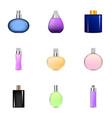spray perfume icons set cartoon style vector image