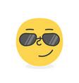 trendy emoji smile eps10 vector image