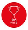 trophy cup award icon vector image