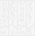 white color ancient pattern vector image