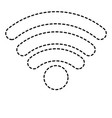 wifi signal icon in black dotted silhouette vector image vector image