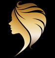 women silhouette icon on black vector image vector image