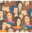 Seamless pattern with a crowd of people vector image