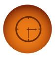 orange emblem clock icon vector image